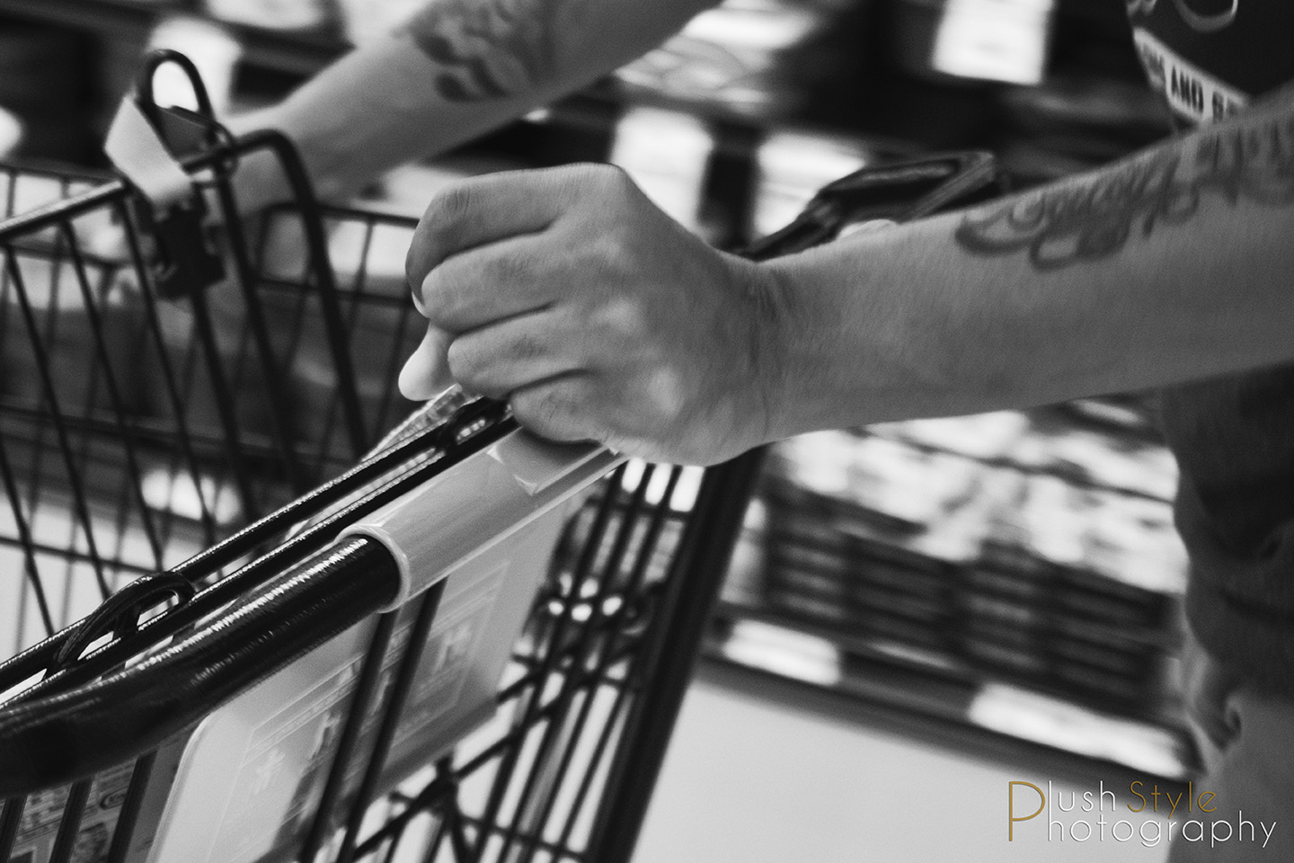 hands on grocery cart image